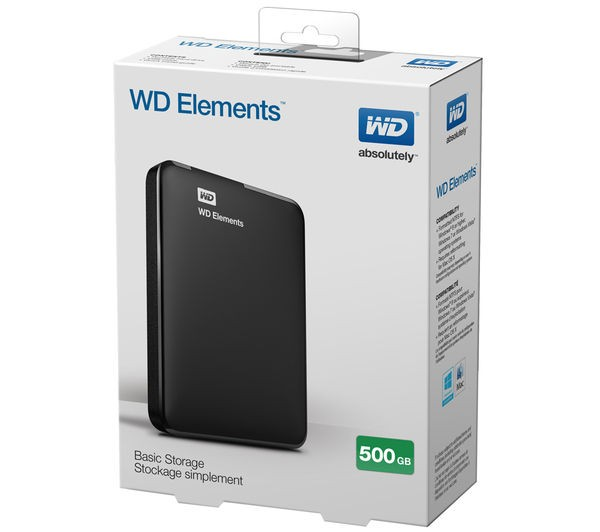 "WD HDD 500GB ext 2.5"" elements"
